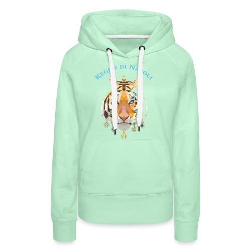 regno di napoli tigre - Felpa con cappuccio premium da donna
