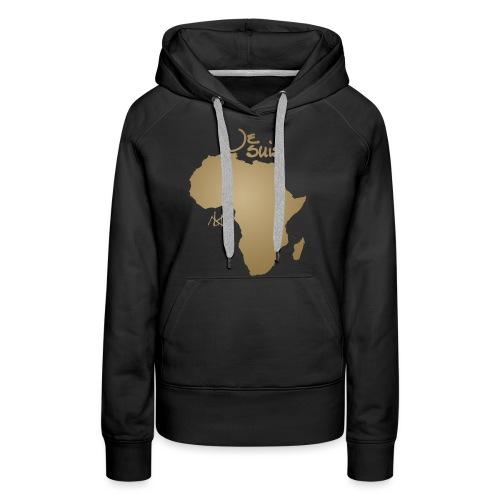 Je suis Afrique / Je suis Aklaaa - Sweat-shirt à capuche Premium pour femmes
