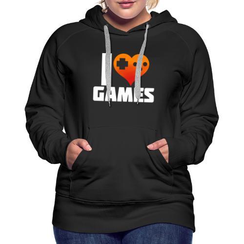 I <3 Games - Frauen Premium Hoodie