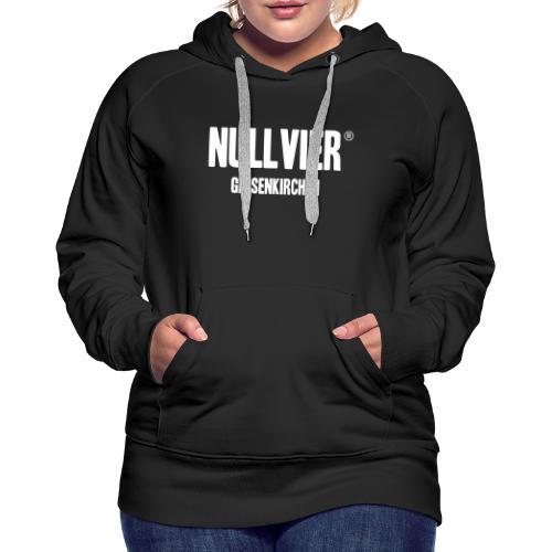 NULLVIER WHITE - Frauen Premium Hoodie