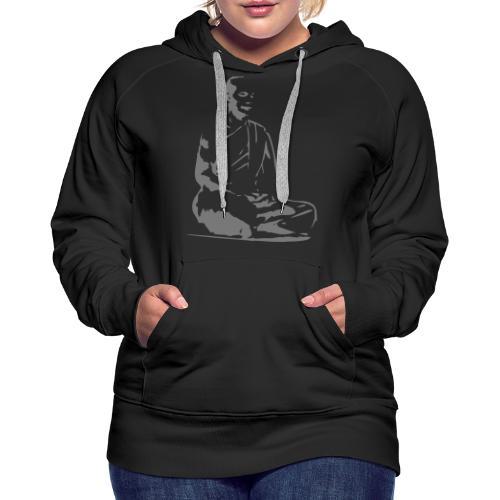 Meditation Zazen - Sweat-shirt à capuche Premium pour femmes
