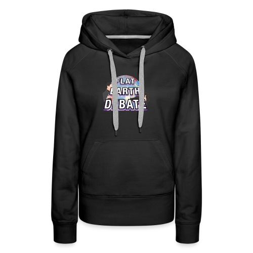 Flat Earth Debate Solid - Women's Premium Hoodie