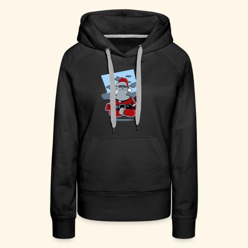 Papa Noël zen - Sweat-shirt à capuche Premium pour femmes