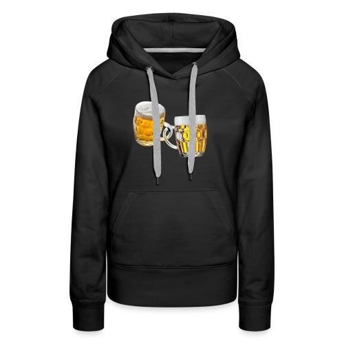 Boccali di birra - Felpa con cappuccio premium da donna