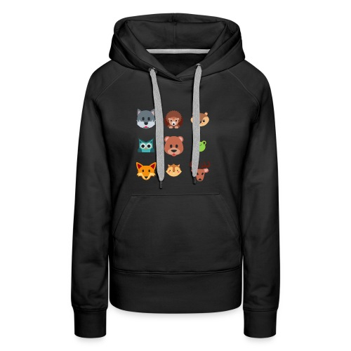 Les animaux de la forêt - Sweat-shirt à capuche Premium pour femmes