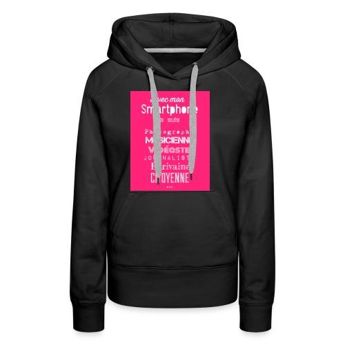 Smartphone - Sweat-shirt à capuche Premium pour femmes
