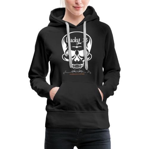 Lucky 13 , Skull Totenkopf 13 Bobber Biker Rocker - Frauen Premium Hoodie
