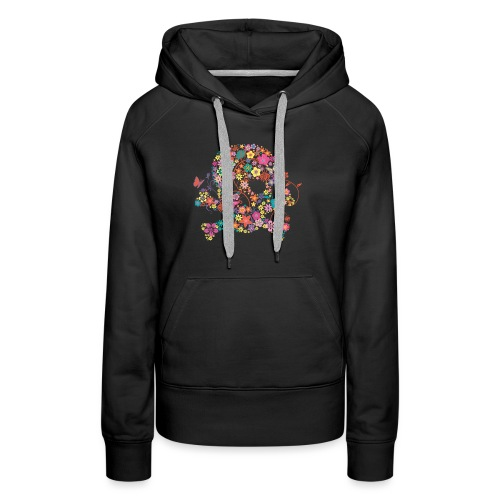 Tête de mort avec des fleurs - flower skull - Sweat-shirt à capuche Premium pour femmes