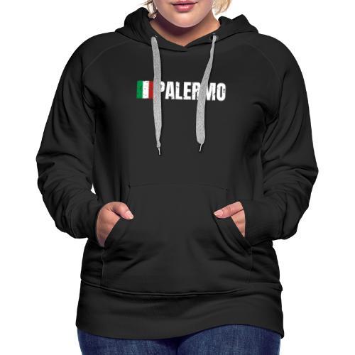 00071 Casa Papel Palermo bandera italia - Sudadera con capucha premium para mujer