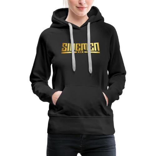 00404 Vikkstar123 dorado - Sudadera con capucha premium para mujer