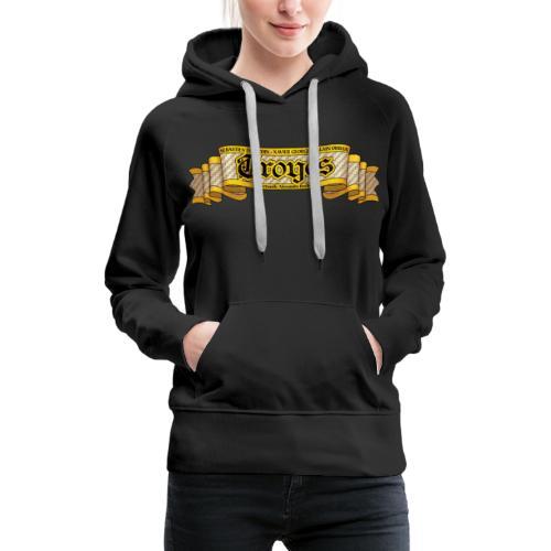 TROYES - Sweat-shirt à capuche Premium pour femmes