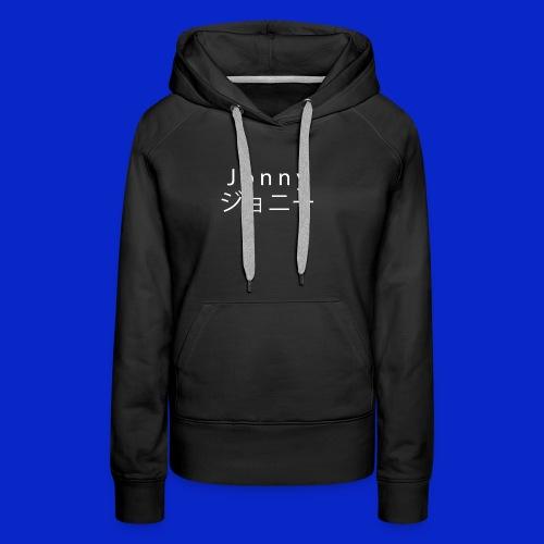 J o n n y (white on black) - Women's Premium Hoodie