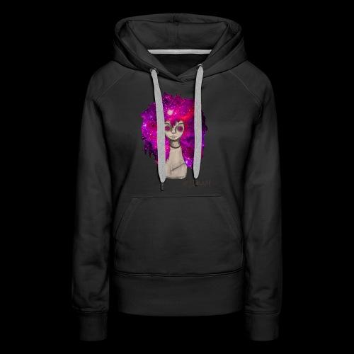 Universe Girl [BLK Edition] - Vrouwen Premium hoodie