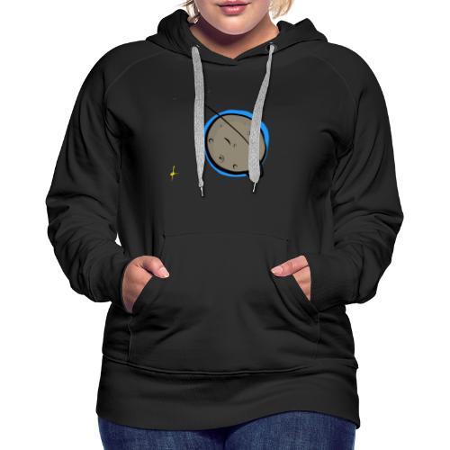 #Moon - Sweat-shirt à capuche Premium pour femmes