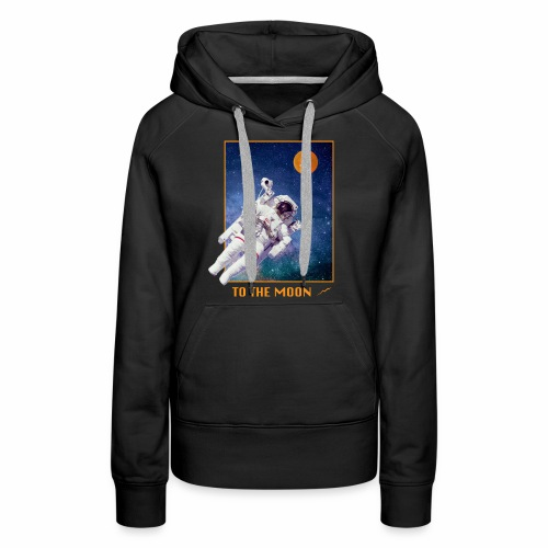 Bitcoin - To The Moon - Frauen Premium Hoodie