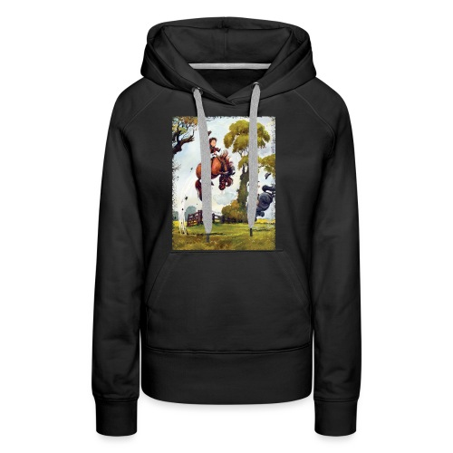 PonyRodeo Thelwell Cartoon - Women's Premium Hoodie