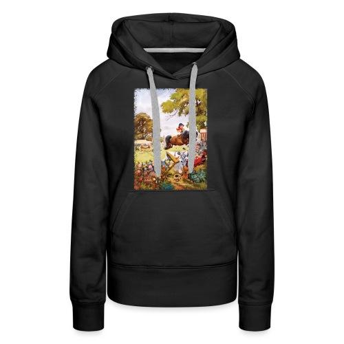 Thelwell Cartoon Pony Turnier - Frauen Premium Hoodie
