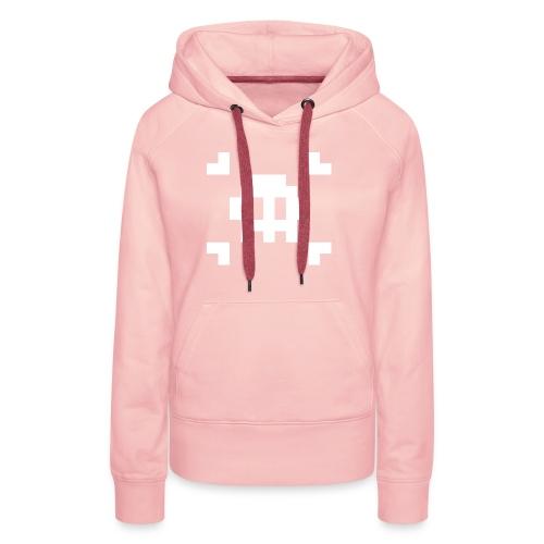 Pixel Skull - Sweat-shirt à capuche Premium pour femmes