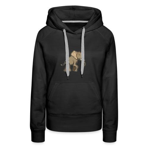 African Elephant (black edition) - Sweat-shirt à capuche Premium pour femmes