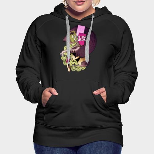 Fighting cards - Invocateur - Sweat-shirt à capuche Premium pour femmes
