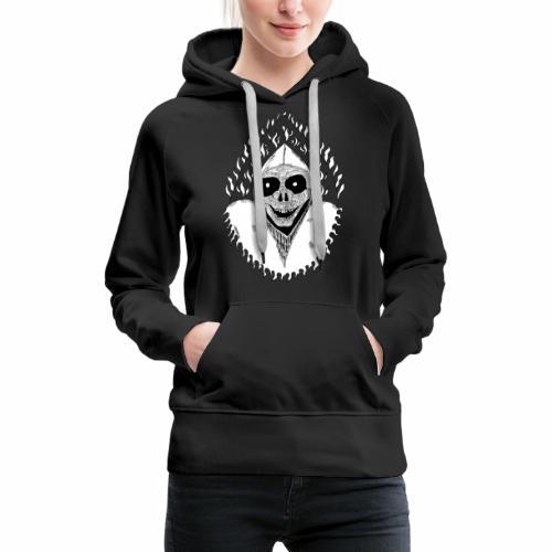 Grimp reaper blank text black & white - Sweat-shirt à capuche Premium pour femmes