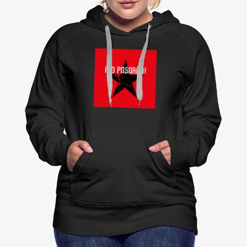 02 No Pasaran Stern Maske Mundschutz rot schwarz - Frauen Premium Hoodie