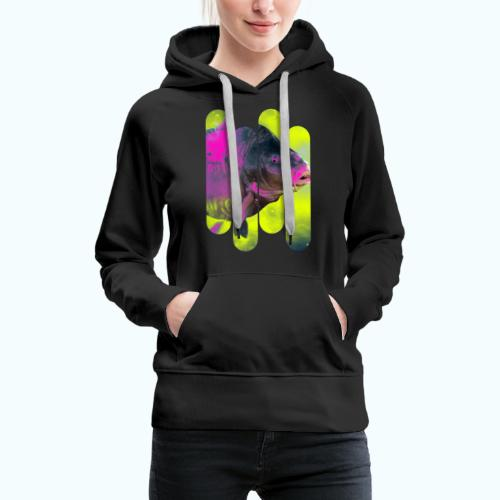 Neon colors fish - Women's Premium Hoodie