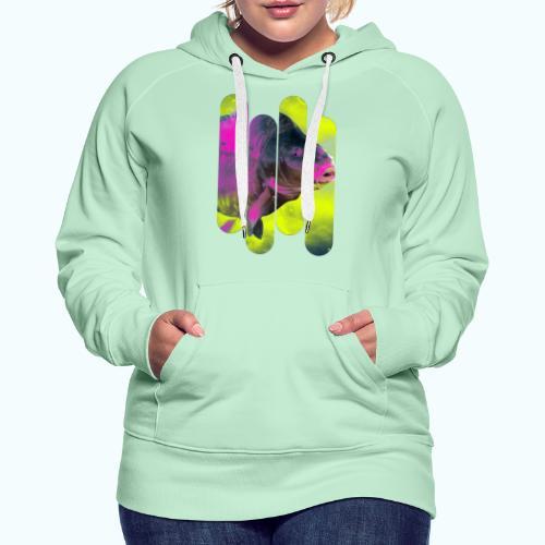 Neon colors fish - Women's Premium Hoodie