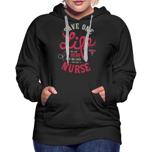 Vintage hero nurse - Naisten premium-huppari