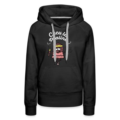 Cucu la praline / Blanc / VPC - Sweat-shirt à capuche Premium pour femmes