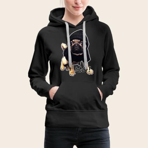 yo_mops_3 - Frauen Premium Hoodie