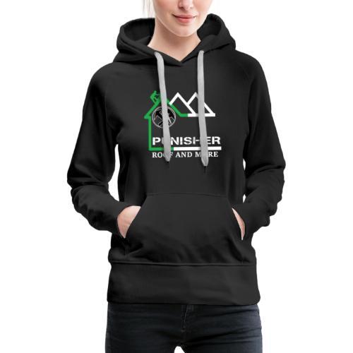 PUNISHER LOGO komplett FRONT u. Back - Frauen Premium Hoodie