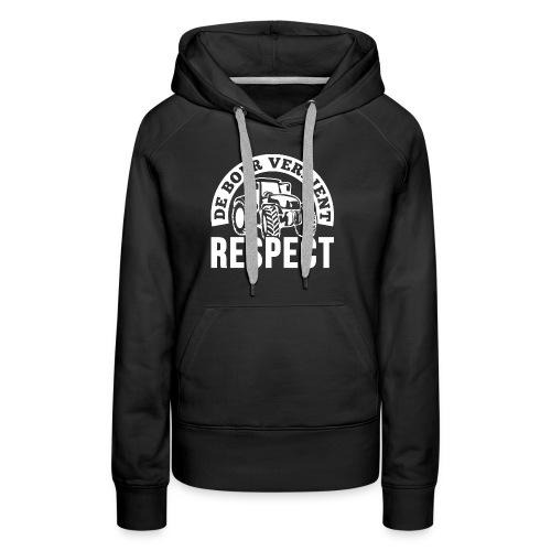 LOGO WIT DeBoerVerdientRe - Vrouwen Premium hoodie