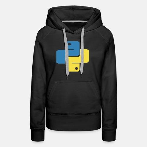 Python Pixelart - Women's Premium Hoodie