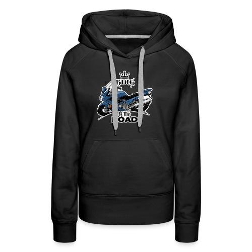 0885 FJR KING of the ROAD (blauw) - Vrouwen Premium hoodie