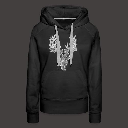 Le Cerf de Cristal - Sweat-shirt à capuche Premium pour femmes