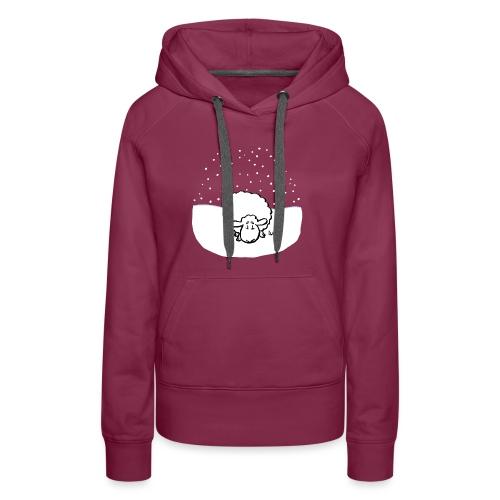 Snowy Sheep - Sweat-shirt à capuche Premium pour femmes