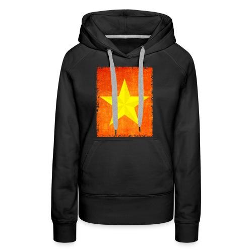 yellow amish barn star t-shirt design gift idea - Felpa con cappuccio premium da donna