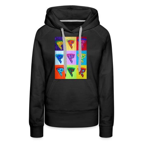 Pizza Warhol - Sweat-shirt à capuche Premium pour femmes