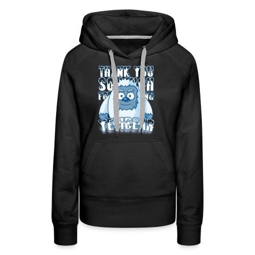 Yeti Design - Vrouwen Premium hoodie