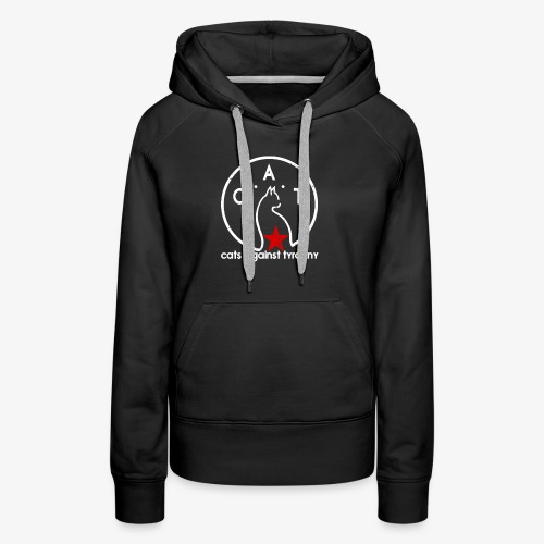 Political Protest Cat T-Shirt - Women's Premium Hoodie