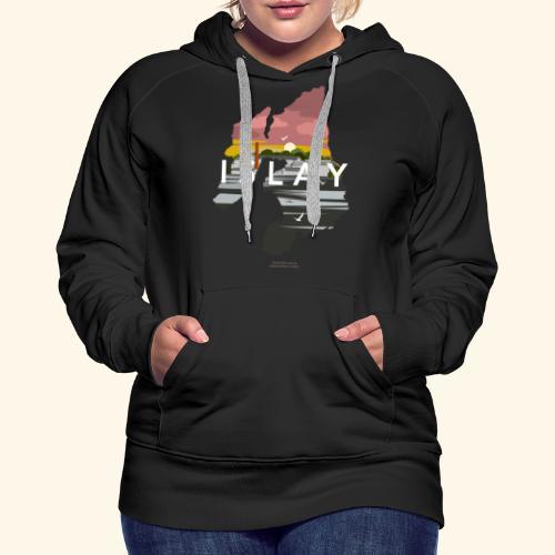 Islay Dusk Whisky T-Shirt Design - Frauen Premium Hoodie