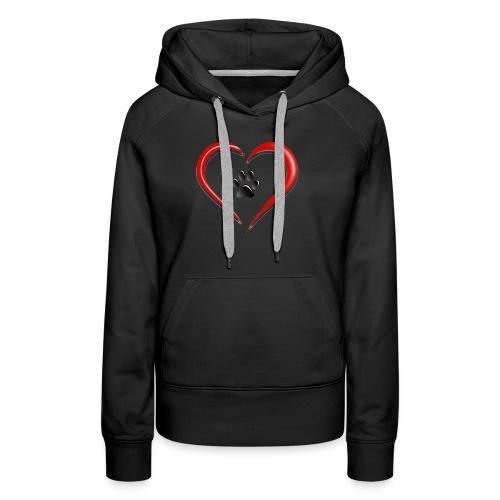 Shirt Herz auf vier Beinen - Frauen Premium Hoodie