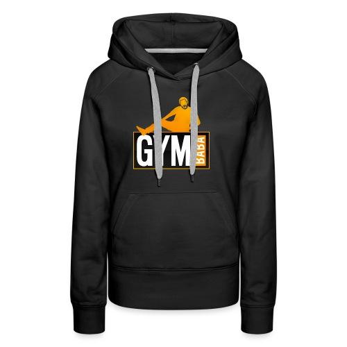 gym-baba-2-org-txtBlc dgr - Sweat-shirt à capuche Premium pour femmes