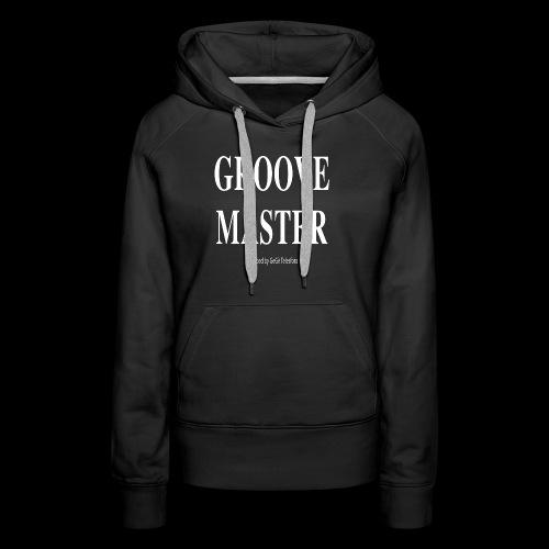 Groove Master bianco - Felpa con cappuccio premium da donna