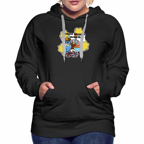 Une merveilleuse licorne est née (pour garcon) - Sweat-shirt à capuche Premium pour femmes