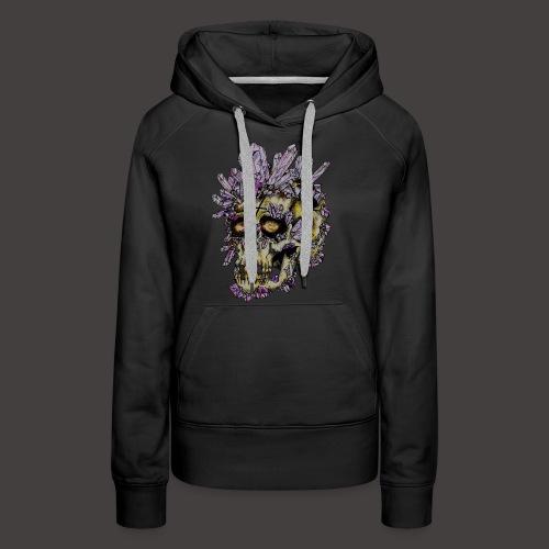 Le Crane de Cristal Creepy - Sweat-shirt à capuche Premium pour femmes