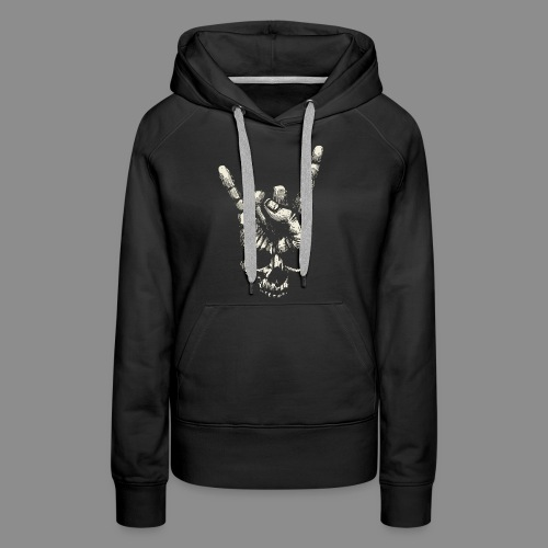 Mano Skull - Sudadera con capucha premium para mujer