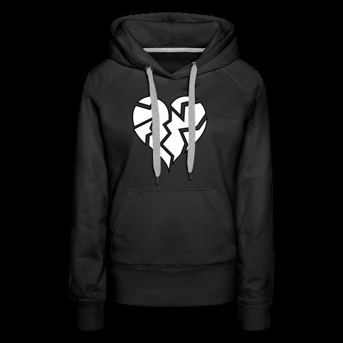 White HeartBroken - Women's Premium Hoodie