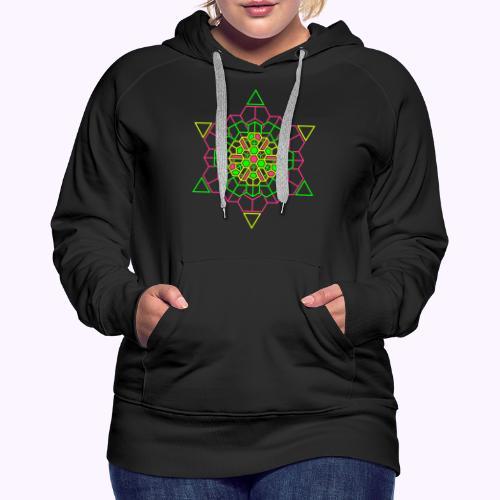 Cosmic Crystal Front - Sudadera con capucha premium para mujer
